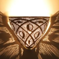 Marokkanische Silber-Wandlampe Diren