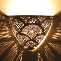 Marokkanische Silber-Wandlampe Kenan