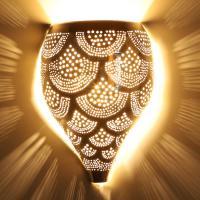 Marokkanische Silber-Wandlampe Nadim