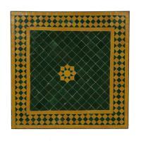 Couch-Mosaiktisch 60x60 Grün-Stern