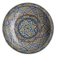 handbemalte Keramikschale aus Marokko F021
