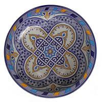handbemalte Keramikschale aus Marokko F023