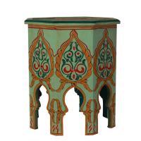 Holz Beistelltisch aus Marokko Damaskus