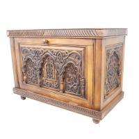 Marokkanische Holz-Truhe Al-Assil Braun