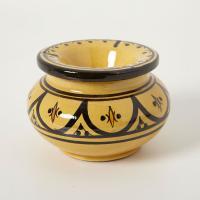 Keramik Aschenbecher gelb