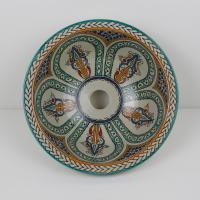 Orientalisches-Handbemaltes-Keramik-Waschbecken Fes1