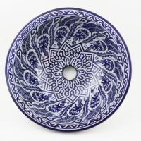 Orientalisches-Handbemaltes-Keramik-Waschbecken Fes36