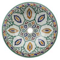 Orientalisches-Handbemaltes-Keramik-Waschbecken Fes34