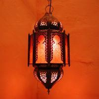 Deckenlampe Haniya Rot