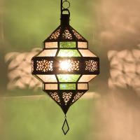 Orient Laterne Maha grün-weiß