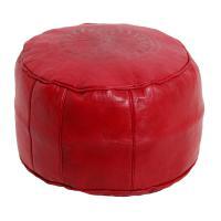 Marokkanische Leder Sitzkissen Asli Rot
