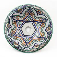 Orientalisches-Handbemaltes-Keramik-Waschbecken Fes35