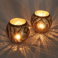 2 Orientalische Windlichter Messinglaternen Amor als Set