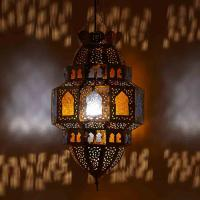 Messinglampe Habib