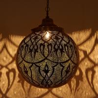 Messinglampe Taj
