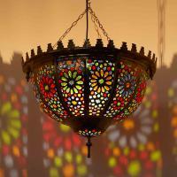 Messinglampe Galiah