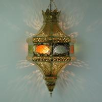 Messinglampe Najla
