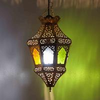 Messinglampe Schela