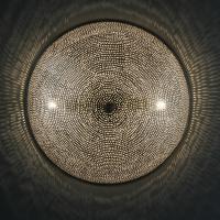 Ägyptische Silber-Wandlampe Sadi D45