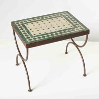 Mosaik-Beistelltisch L44 Grün/Terracotta