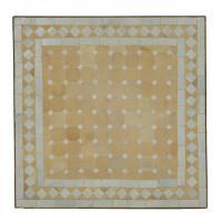 Couch-Mosaiktisch 60x60 Weiss-Raute