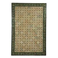 Mosaik-Esstisch 120x80 Grün/Raute