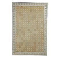 Mosaik-Esstisch 120x80 Weiss/Raute