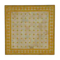 Mosaiktisch 60x60 Gelb-Raute