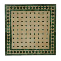 Mosaiktisch 45x45 Grün-Raute