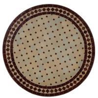 Mosaiktisch D60 Bordeaux/Raute
