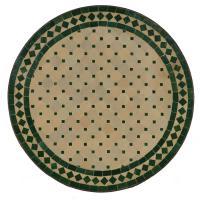 Mosaiktisch D60 Grün/Raute