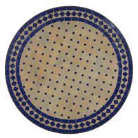 Mosaiktisch D60 Blau/Raute