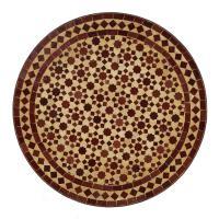 Mosaiktisch aus Marokko - Rund -M60-26