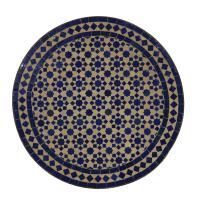Mosaiktisch aus Marokko - Rund -M60-9