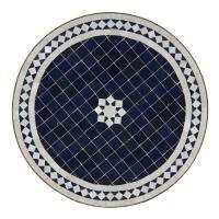 Mosaiktisch aus Marokko - Rund -M60-18