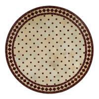 Mosaiktisch D90 Bordeaux/Raute