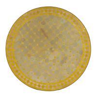 Mosaiktisch D90 Gelb/Raute