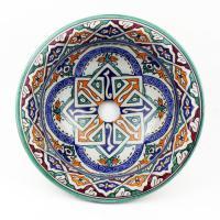 Orientalisches-Handbemaltes-Keramik-Waschbecken Fes50