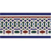 Marokkanische Fliesen-Bordüre Zakia