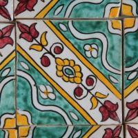 Handbemalte Fliese Maya