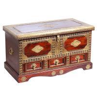 Orientalische Holztruhe Sumati