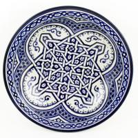 handbemalte Keramikschale aus Marokko F011