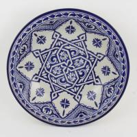 handbemalte Keramikschale aus Marokko F013