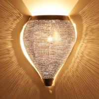 Marokkanische Silber-Wandlampe Kassim
