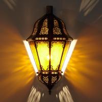 Orient Wandlampe Beluti Gelb