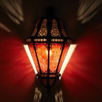 Orient Wandlampe Beluti rot
