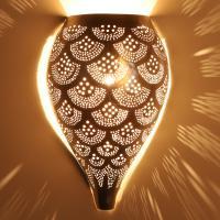 Marokkanische Silber-Wandlampe Farid