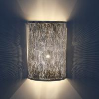 Marokkanische Silber-Wandlampe Yakut