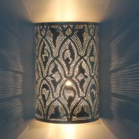 Marokkanische Silber-Wandlampe Yusra