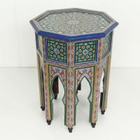 Orientalischer Beistelltisch Tahani Grau